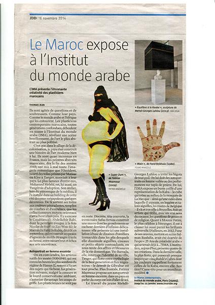 Galerie dix9 hlne lacharmoise paris marie aerts leyla cardenas sheila co - Institut du monde arabe maroc ...